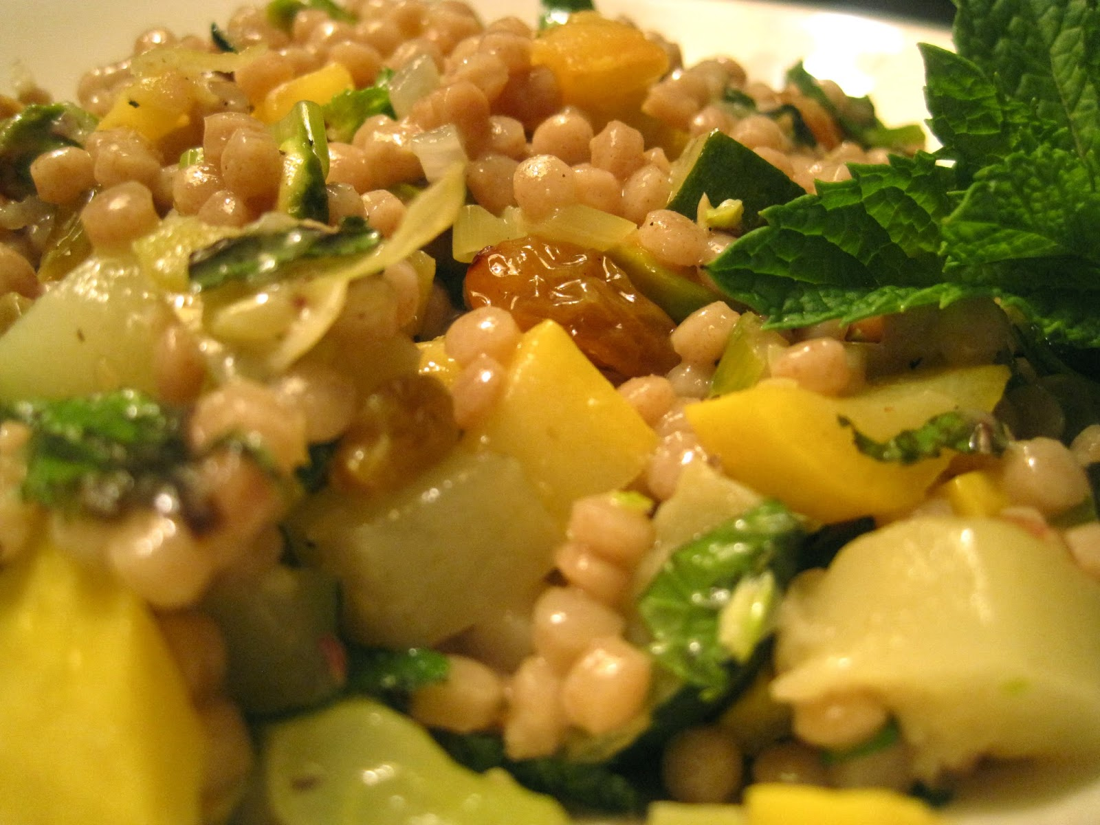 ... the Kitchen: Summer Squash Couscous with Sultanas, Pistachios and Mint