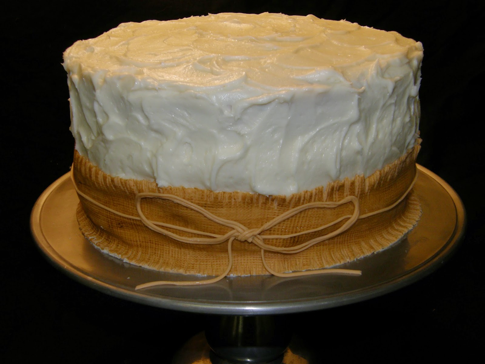 This Is Cream Cheese Icing In A Rustic Texture