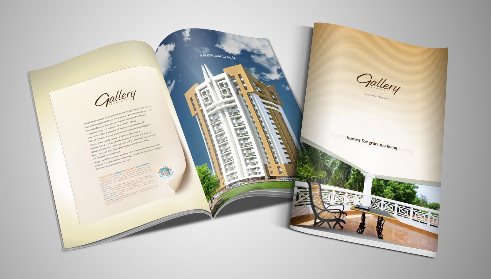 Brochure design for gallery apartments balcony ticket for Best catalog design 2016