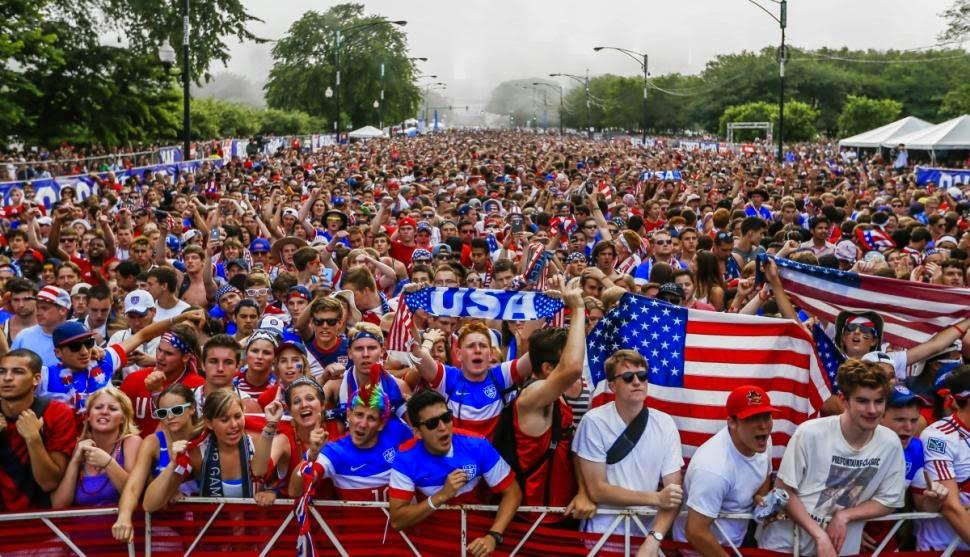 Team USA soccer fans