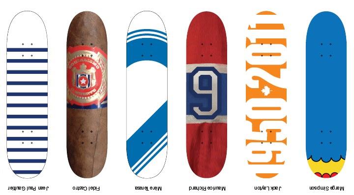 Des1211 design graphique introduction projet 4 skateboards - Creer son skateboard ...