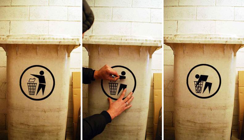 Artista callejero crea ingeniosas intervenciones urbanas para que la gente piense