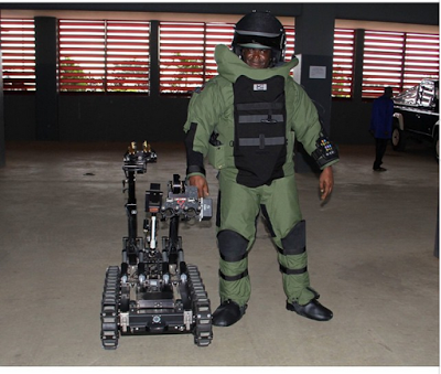 Photo; Nigerian Military Steps Up Their Game Against Boko Haram With Explosive Disposal Remote Control Robot