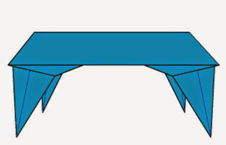 Hướng dẫn cách gấp giấy Origami - Hình cái bàn đơn giản