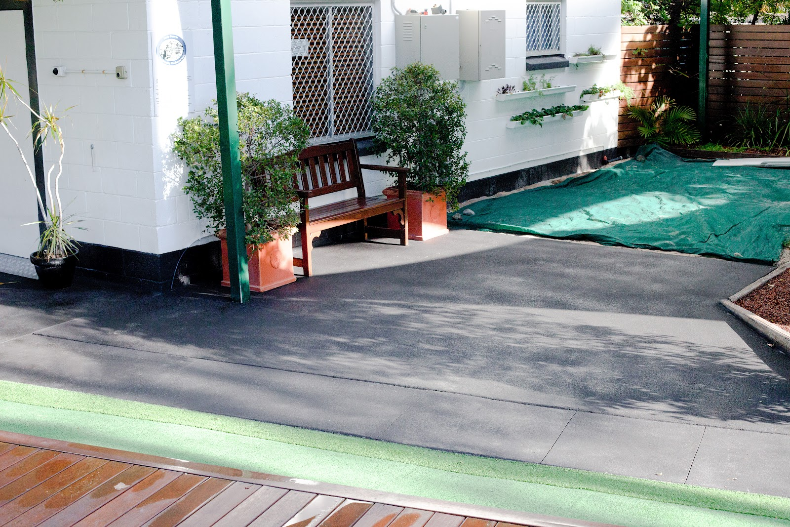 Car Port Cover Cleaning Before And After