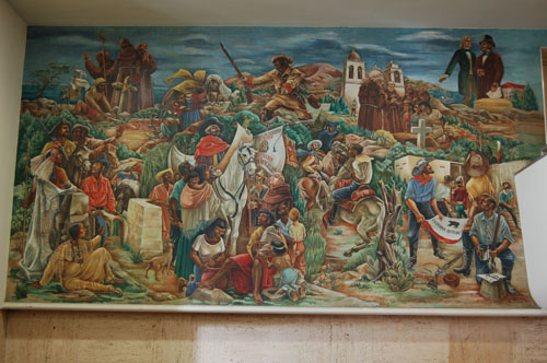 History los angeles county view historic murals oct for Mural history