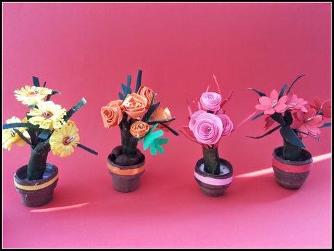 http://quillingzone.blogspot.tw/2014/04/3d-miniature-flower-pots.html