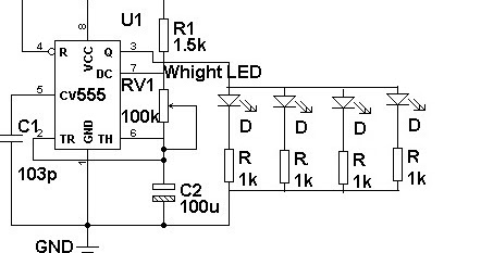 electronics projects  led flasher for automobiles