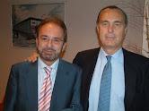Con Luis Alberto de Cuenca Premio Nacional de Poesía