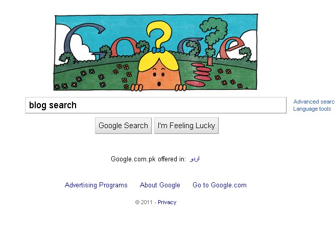 google blog search. as Google Blog Search