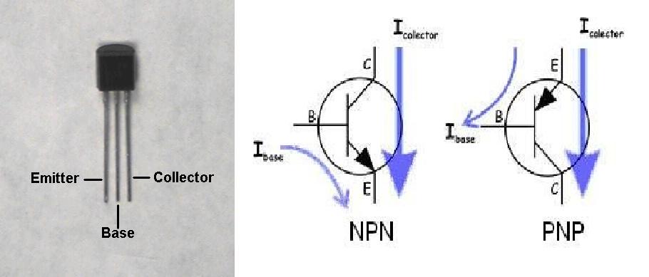 База коллектор-эмиттер на схеме