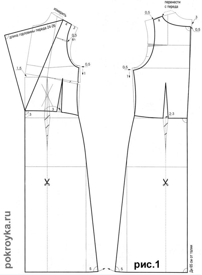 Выкройка платье-футляр 42 размера