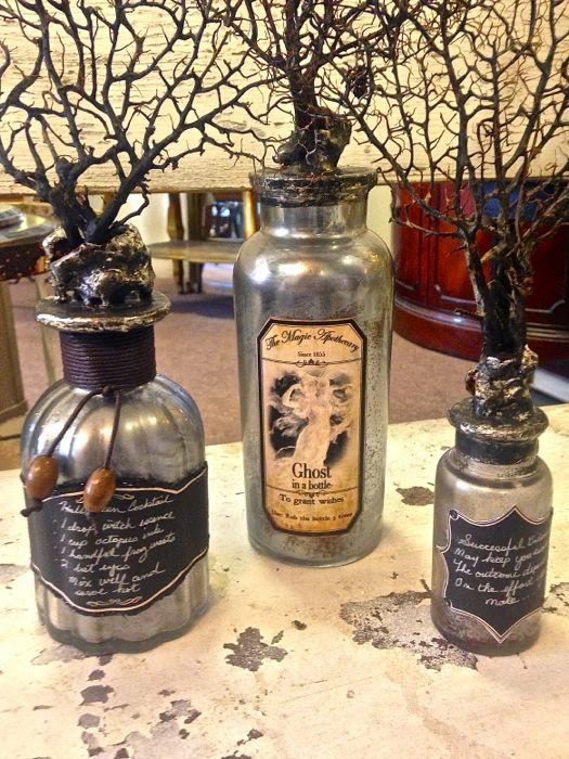 Halloween bottles by The Pickled Hutch