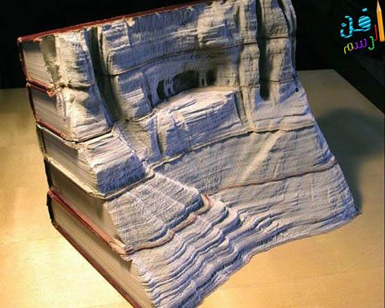 فن الرسم والنحت على الكتب القديمة