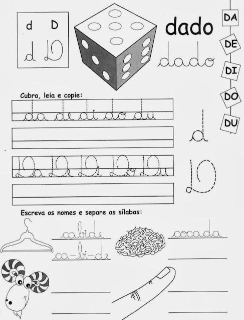 dedo,Atividades com a Letra D,alfabeto,alfabetização,anos iniciais, atividades para imprimir,letras,letra D,1º ano, ensino fundamental.