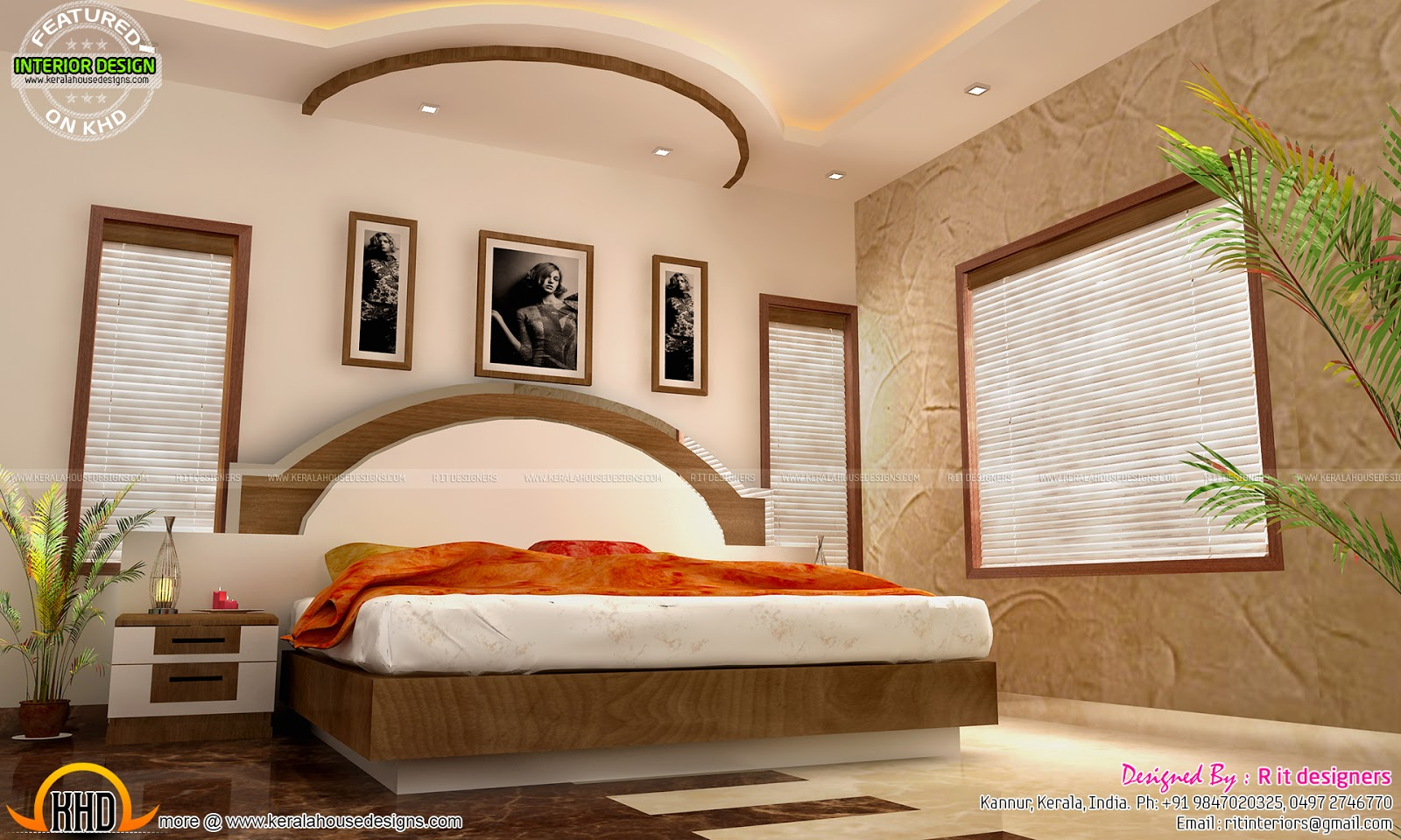 Main bedroom bifurcated stair living and courtyard for Main bedroom designs pictures