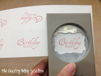 Birthday Wishes Decorative Label Punch