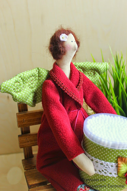 тильда, кукла тильда, тильда фея, тильда ангел, купить тильду, купить куклу, игрушка, хранительница ватных палочек, банная фея
