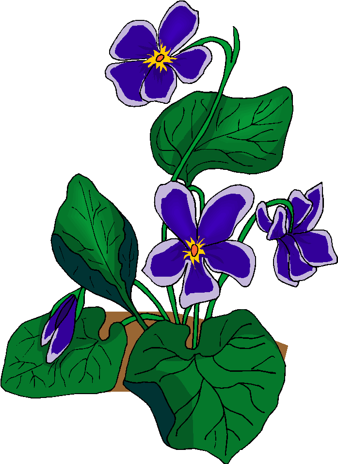 Beautiful Blue Flowers Free Clipart