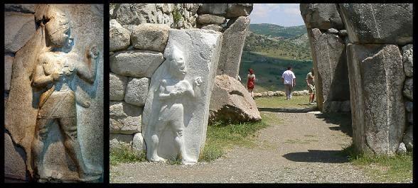 ciudades perdidas, Puerta del Rey, hitita, dios guerrero, Hattusa, Bogazkoy, arte hitita, escultura hitita, heteo, pangea, Texier, mundo antiguo