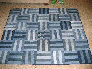 Blue Jeans Quilts - easy denim quilts made from recycled
