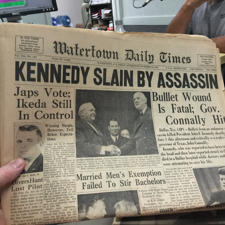 Back When There Was News on the Front Page