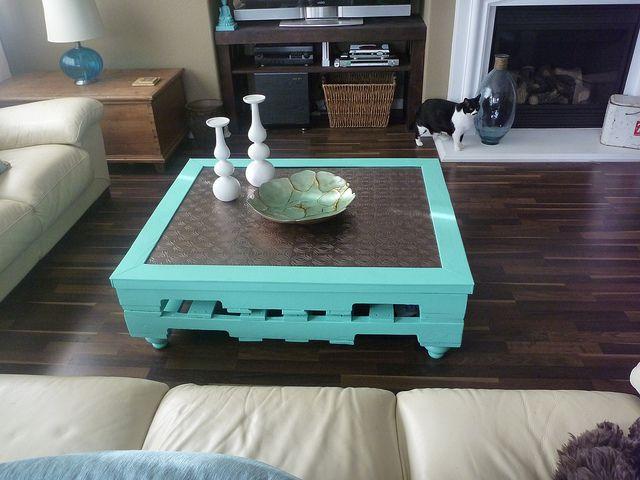 mesa de paletes chique, mesa de paletes diferente
