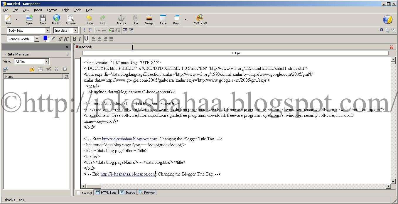 KompoZer_CSS_HTML_XML_Java_editor_FTP_site_manager_Cleaner_markup_Spellchecker