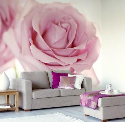 Large flower wall murals