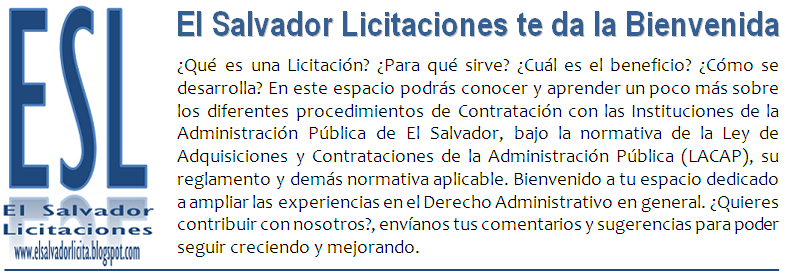 Licitaciones en El Salvador