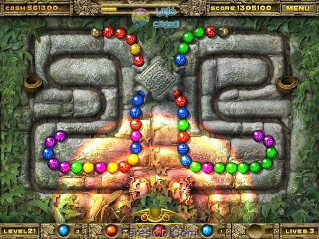 لعبة زوما الجديدة Azteca بمساحة 17 ميجا للتحميل برابط مباشر