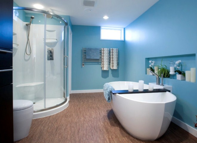 Modern and beautiful bathrooms design ideas with blue for Beautiful modern bathrooms
