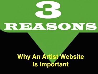 3 Reasons why an artist website is important graphic