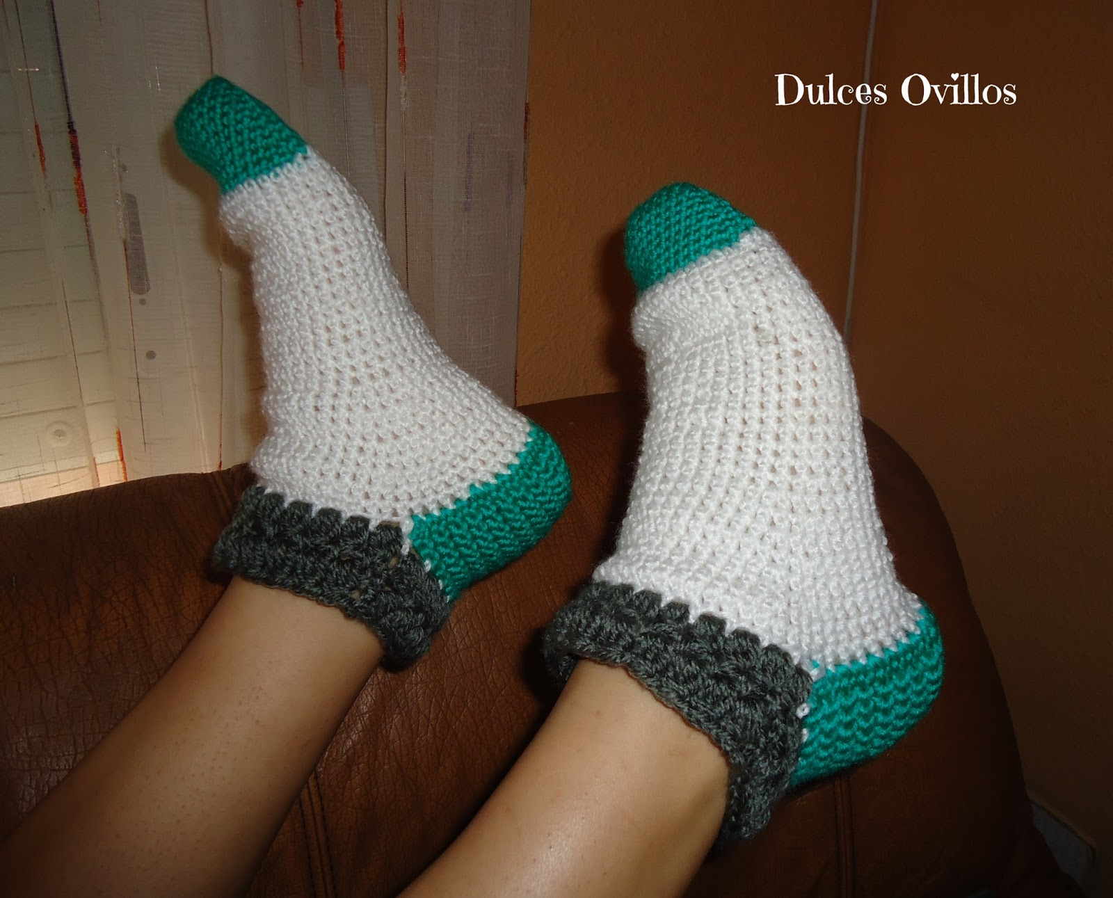 Calcetines a ganchillo - Crochet socks - Handbox Craft Lovers ...