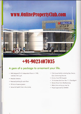 OMAXE SILVER BIRCH MULLANPUR NEW-CHANDIGARH 3BHK, 4BHK