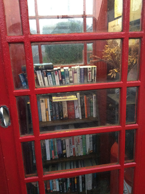 library in a phone box