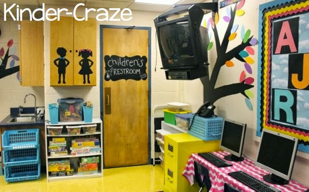 chalkboard idea for a kindergarten classroom bathroom