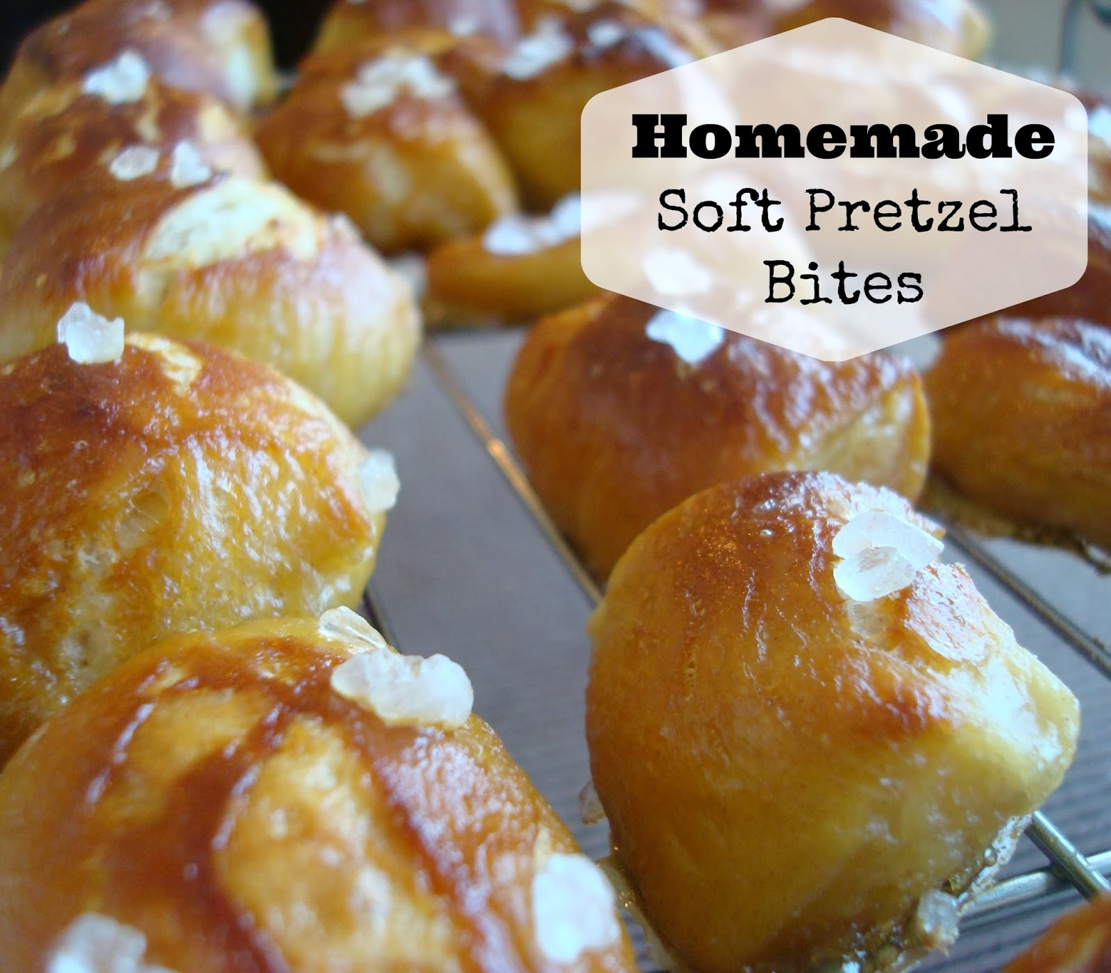 So today I'm showing off a super popular recipe that would be a perfect addition to any Super Bowl Party! Homemade Soft Pretzel Bites!