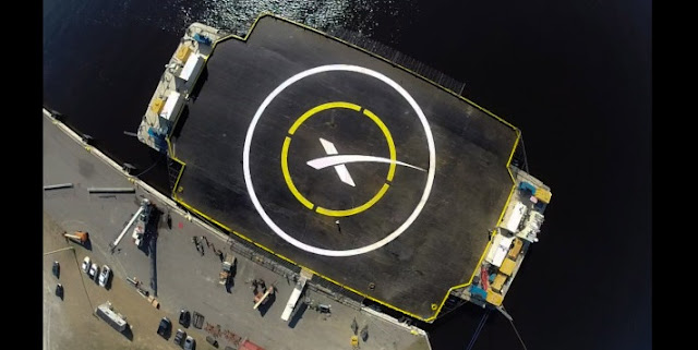 "The ""autonomous spaceport drone ship"" that SpaceX built to recover the Falcon 9 first stage. Credit: SpaceX"