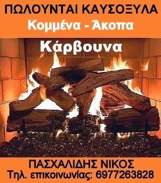 ΚΑΥΣΟΞΥΛΑ ΚΟΜΜΕΝΑ - ΑΚΟΠΑ ΚΑΙ ΓΙΑ ΤΟ ΤΖΑΚΙ