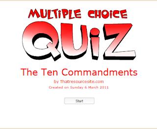10 commandments practice game online