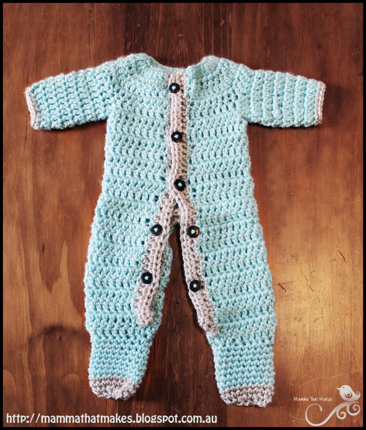 Mamma That Makes Ezra Romper Free Crochet Pattern