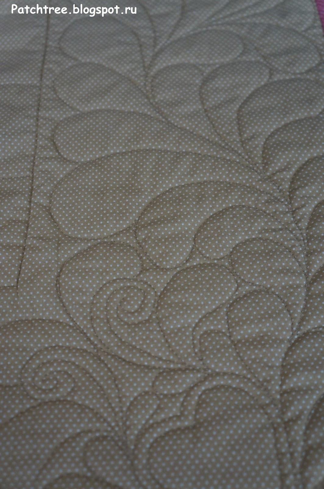 стежка перьями лоскутного одеяла