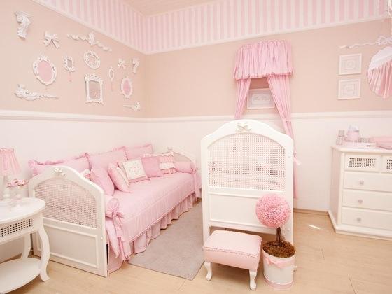 Quartos de meninas bebês veja decorações lindas! Decor  ~ Quarto Rosa Pastel