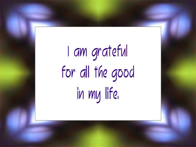 GRATITUDE affirmation