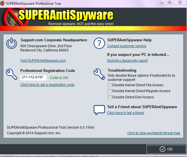 SUPERAntiSpyware Pro v6.0.1164 Full Serial Key