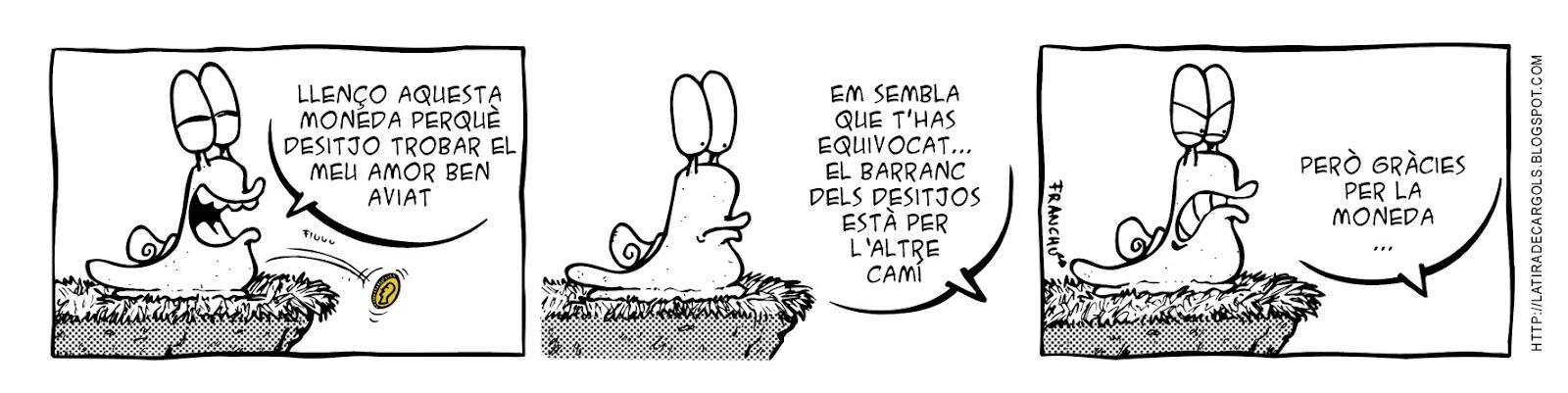 Tira comica 123 del webcomic Cargols del dibuixant Franchu