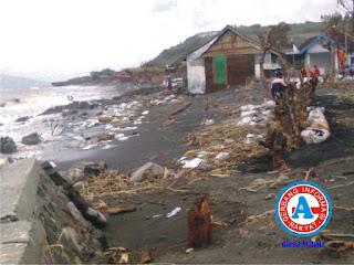 Gelombang Pasang Terjang Desa Sangiang-Wera, 33 Rumah Rusak