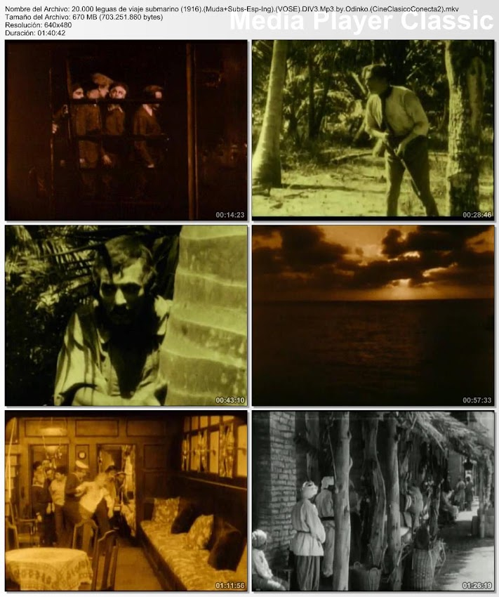 20.000 leguas de viaje submarino | 1916 | 20,000 Leagues Under the Sea | secuencias de la película