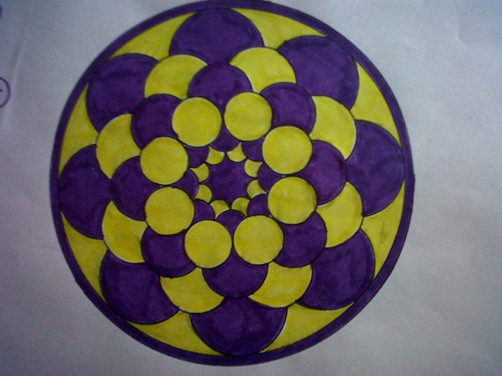 Artes integradas mandalas - Cuadros con colores calidos ...